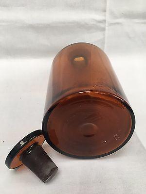 alte Apothekerflasche Braunglas Gefäß Apotheke 22cm Spir.saponat.camph. #99 5