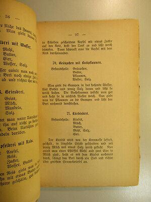~1900 F.Koch Kochbuch Die Ernährung des Menschen / Vegetarisch Vegetaria 3