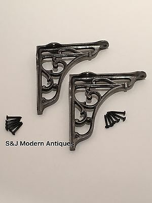 Antique Vintage Shelf Bracket Cast Iron Metal Victorian Design Heavy Duty 5 Inch 12 • £13.95