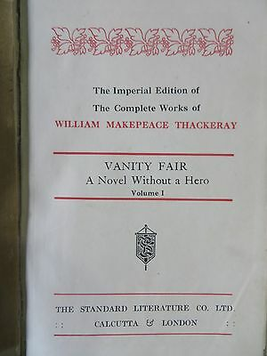rarts RARE BOOK 1948 edi IMPERIAL WILLIAM MAKEPEACE THACKERAY VANITY FAIR 6