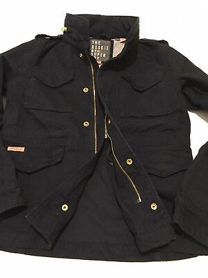 SUPERDRY NEW WOMEN'S Winter Rookie Military Jacket Dark Navy