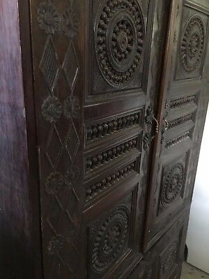 Rare Breton Armoire Bakers Cabinet Housekeeper Pantry Hall Cupboard 18th century