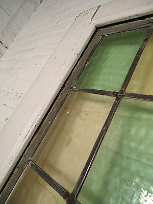 Single Vintage American Stained Glass Door (08108)NS