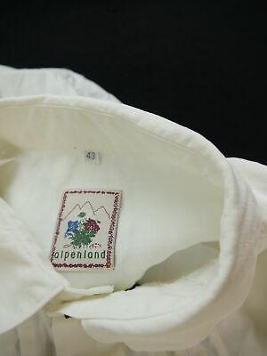 Gr.XL Trachtenhemd Alpenland Baumwolle mit Lederriegel Trachten Hemd TH1542 3