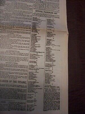 TITANIC NEWSPAPER 1912 Boston Globe/Marsh Murder Story/Ty Cobb Quits Team  !!!!! 12