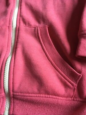 Primark Girls Pink Long Sleeve Zip Up Jacket Size 9-10 Years Good Condition 3
