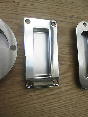 STAINLESS STEEL Recessed/flush Inset Door Handle Sliding Handle ...