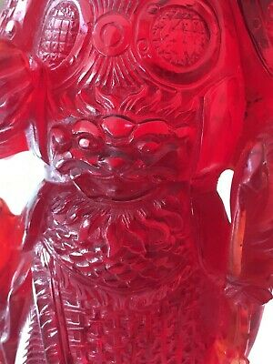 Vintage Chinese Resin Figure Wooden Base 6