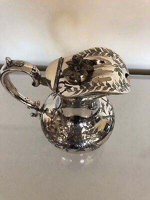 Stunning Large Bulbous Shaped Silver Plated Claret /Water Jug  (Walker & Hall) 6