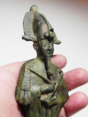 ZURQIEH -as6761- ANCIENT EGYPT, LARGE BRONZE STATUE OF OSIRIS. 600 B.C 5