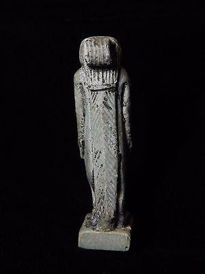 Zurqieh -Q5- Ancient Egypt. Large Faience Amulet Of Tawaret. 600 B.c 3