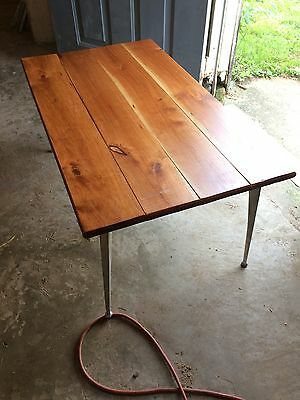 Industrial Coffee Table Cast Aluminum Iron Legs Leg Vintage Like Shelby Williams