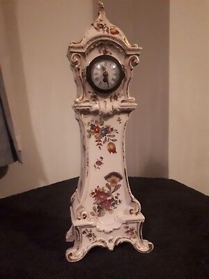 antique porcelain french  mantle clock by Diette Hour 2