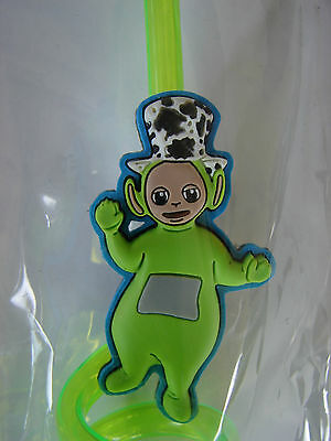 RARE 1998  SET OF 2 TELETUBBIES TWIST DRINKING STRAWS BY RAGDOLL NOS dead stock