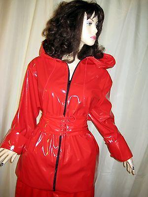 Lackanzug, Hosenanzug,Saunaanzug, Zweiteiliger Anzug,Vinylsuit,Saunasuit 6