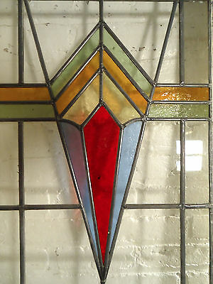 Vintage Art Deco Stained Glass Door (02649)NS