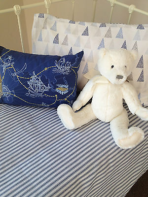 3 pc Baby Boys Cooper Cot Cover Quilt & Pillow Case Crib Nursery Bedding 3
