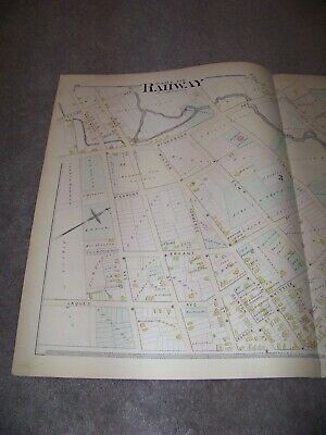 1882 Map Part of Rahway New Jersey J E Robinson & R H Pidgeon A H Mueller 2