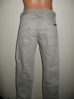 Hardly Worn Boys Pale Grey Diesel Darron Slim Fit Skinny Leg Jeans Age 13-14-15 9