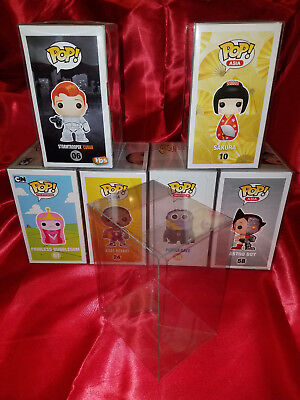 100 FUNKO POP! PROTECTORS PREMIUM QUALITY 0.40mm THICK! Crystal Clear! Acid-Free 4