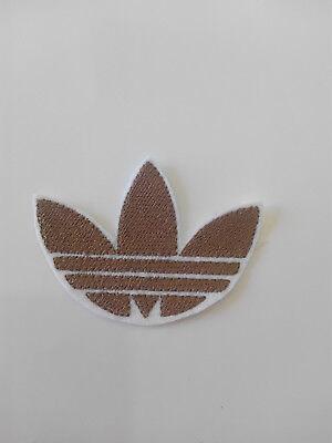 Parche bordado para  pegar , termoadhesivo estilo Adidas 7,5/5,5 cm adorno ropa 3