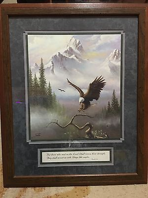... Isaiah 40:31 Home Interiors U0026 Gifts Framed U0026 Matted Soaring Eagle  Picture