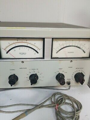 Hp 8405A Vector Voltmeter  With Probe & Power Cord 3