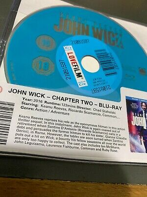 John Wick: Chapter 2 Blu-ray - Keanu Reeves DISC ONLY . Action Crime Film 2