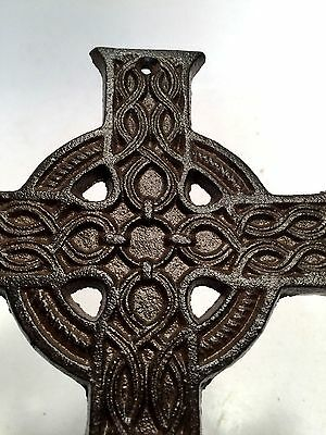 Cross Crucifix Cast Iron Wall Hanging New Vintage Embellishment Home Decor