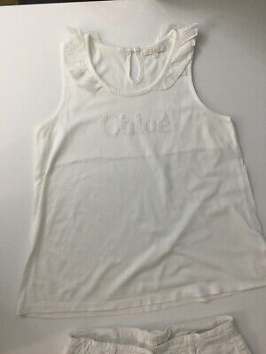 Chloe Girls Outfit Set White Top T Shirt And Shorts Age 12 Years 2