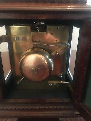 Mahogany bracket clock, fine quality Englishdouble fusée movement 9