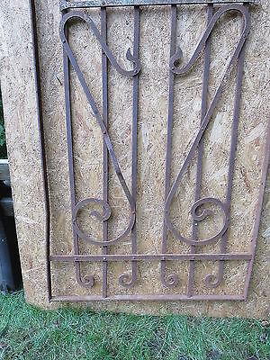 Antique Victorian Iron Gate Window Garden Fence Architectural Salvage Door FFF 2