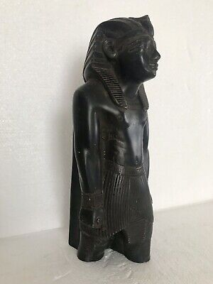 ANCIENT EGYPTIAN ANTIQUE Bronze Pharoh Signed Adele 3