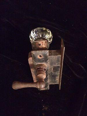 Antique Glass/Crystal Door Knob with Russwin Lock and Metal Handle 5