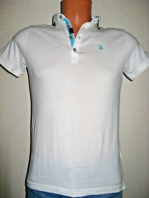 Worn Once Boys Next White Polo T-Shirt & Next Super Skinny Leg Blue Jeans Age 12 2