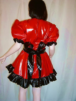 Lackminikleid,ouvert, Dienstmädchenkleid,Maiddress,Vinylskirt,Crossdresser,Gay 8
