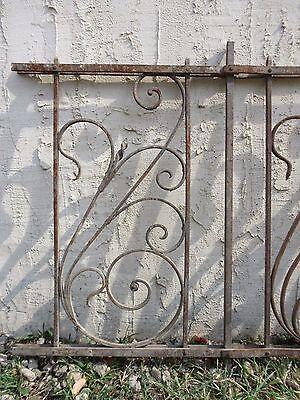 Antique Victorian Iron Gate Window Garden Fence Architectural Salvage #926 2