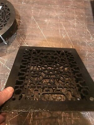 D 46 antique heating grate no fins 9.75 x 11.75 clean Unlacquered 6