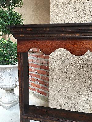 Antique English Carved Tiger Oak Plate Platter Wall Rack Display Shelf Kitchen 4