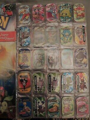 30 Pokemon metal tags 2006 4 legendaries per pack