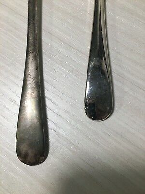 Vintage FB Rogers Italy Silver Serving Spoon and Fork Set 2