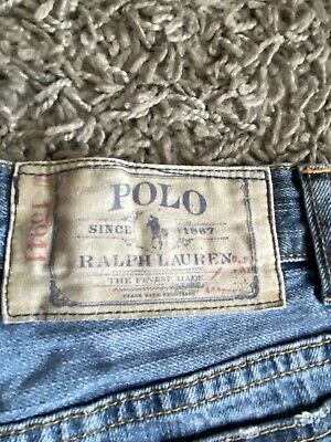 Boys Ralph Lauren Polo Denim Blue Faded Distressed Look Ripped Jeans Age 10 Yrs 6