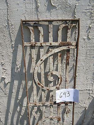 Antique Victorian Iron Gate Window Garden Fence Architectural Salvage Door #643 3