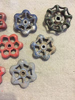 Lot Of 9 Vintage Light Metal Water Faucet Handles Knobs Valves Steampunk Lot #33 4