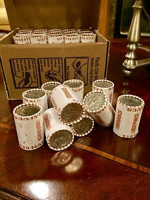 One Unsearched Bank Sealed Half Dollar Roll - Possible Silver Kennedy Franklin