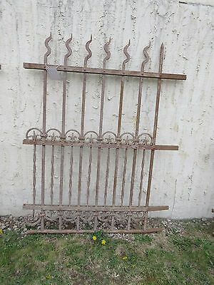 Antique Victorian Iron Gate Window Garden Fence Architectural Salvage Door #310 5