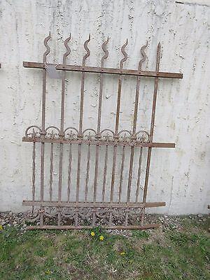 Antique Victorian Iron Gate Window Garden Fence Architectural Salvage Door #310 5