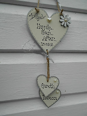 "plaque engagement New Personalised /""Happily Ever After/""sign Valentine gift"