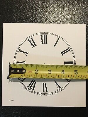 "Antique Clock Parts- Antique Ansonia Clock Dial 5"".Original Cardboard-New-White. 2"