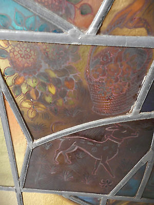 Tall Antique Vintage Stained Glass Art Door (1453)NJ 6